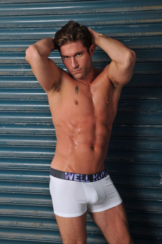 Model Posing In Well Hung Underwear New Brand Alert Original Classic