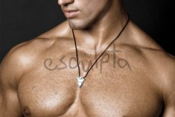 Esculpta-mens-torso-sculpture-necklace-pendant