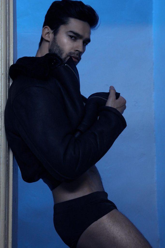 Model Andre Watson by Marco Ovando | Men and underwear