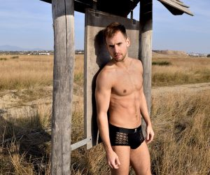 Pothos underwear review - Men and Underwear exclusive photos with model Stathis Kapravelos
