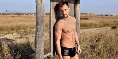 Pothos underwear review - Men and Underwear exclusive photos with model Stathis Kapravelos