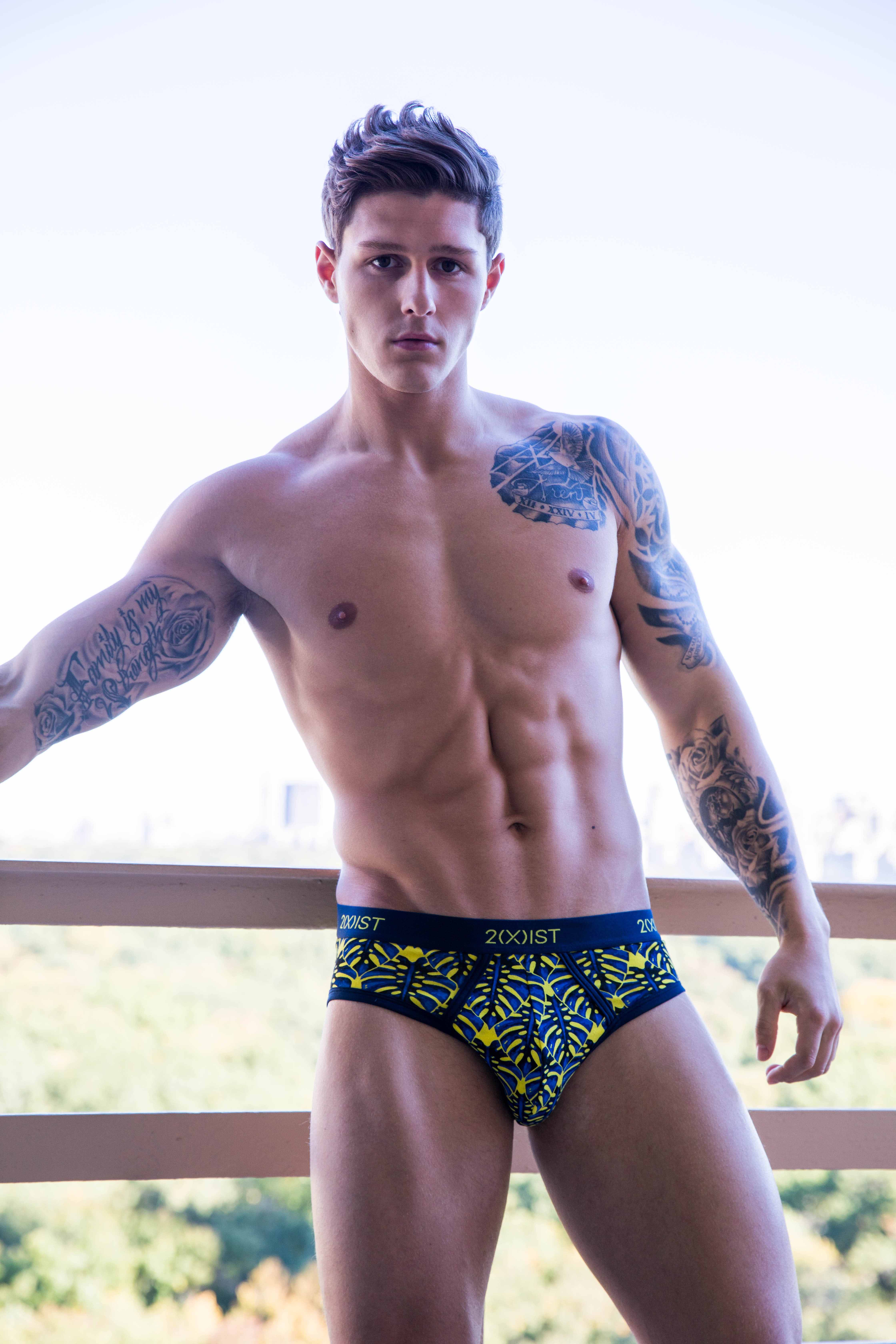 Reece Holder photographed by Harold Mindel in 2XIST underwear