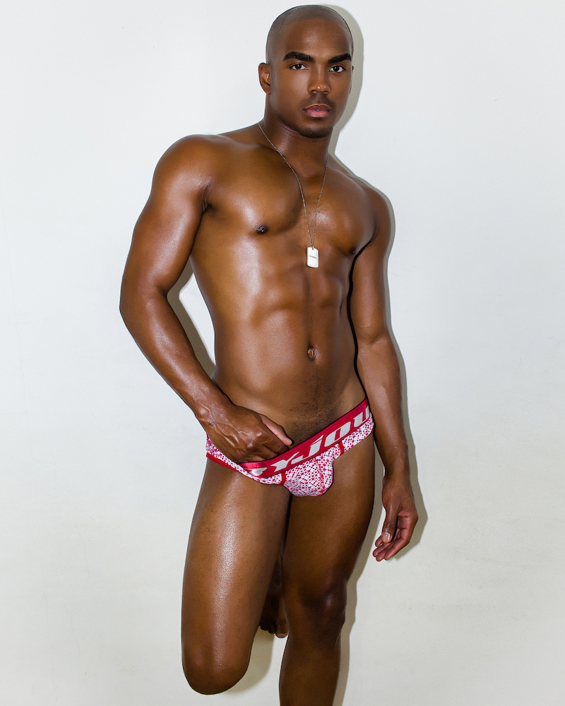 Kyle Goffney photographed by David Aldea - Byjou underwear