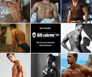 Men and Underwear Awards - Best model 2018 nominees