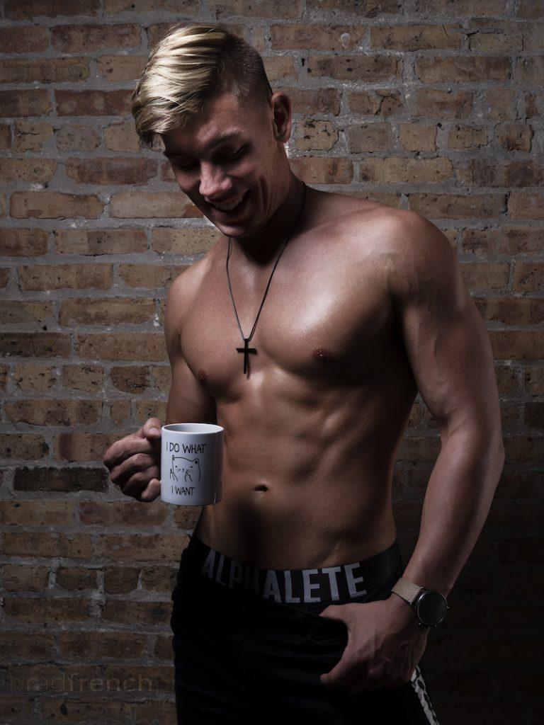 Chris Monasmith photographed by Bradley French Alphalete underwear