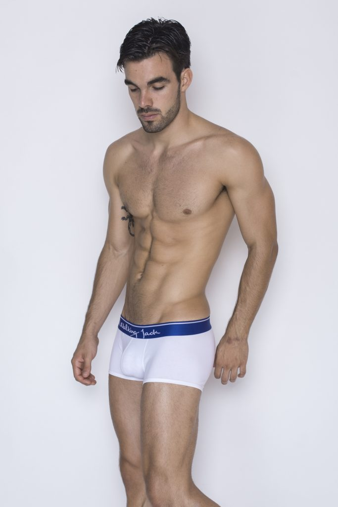 Walking Jack - underwear - Core Trunks - White:Blue