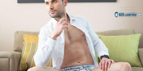 Matt Corti photographed by Markus Brehm - Walking Jack underwear