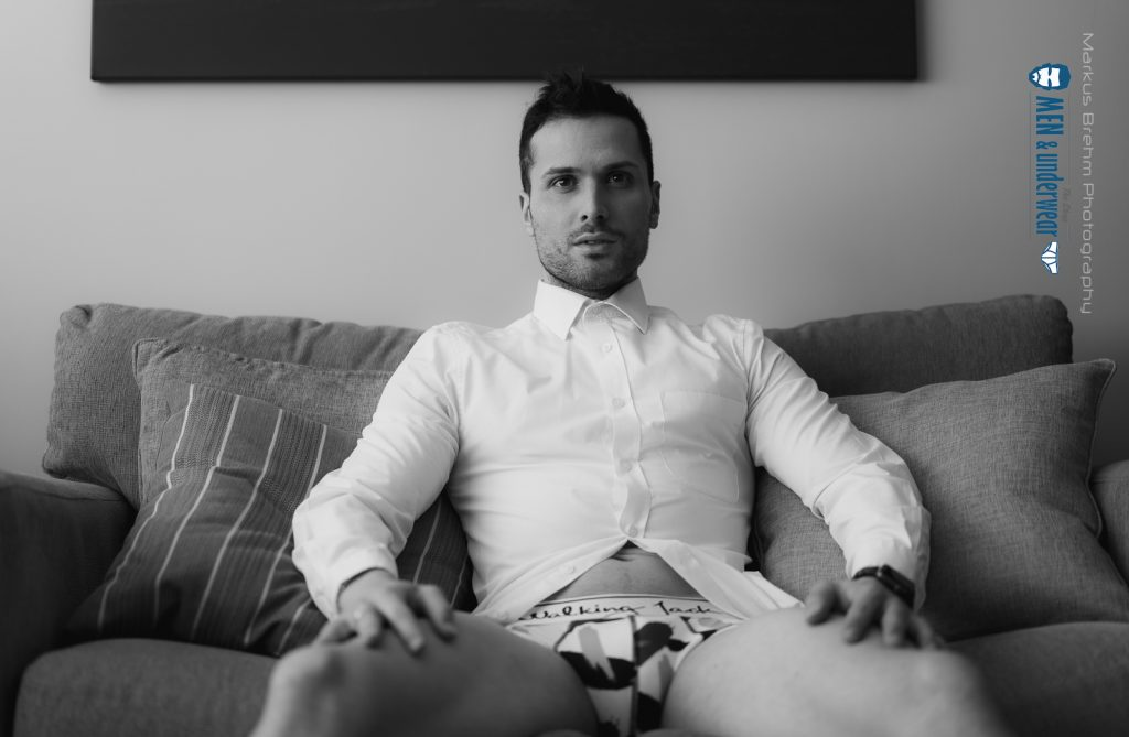 Matt Corti photographed by Markus Brehm - Walking Jack underwear