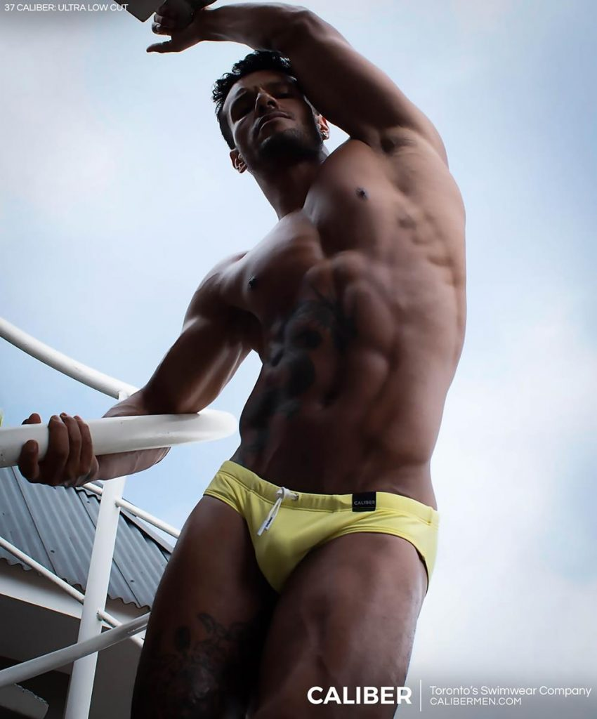 Heder Costa in the new campaign of Caliber swimwear via Btchs Magazine