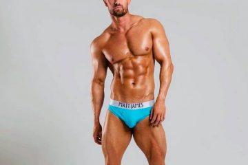 matt james underwear - blue briefs