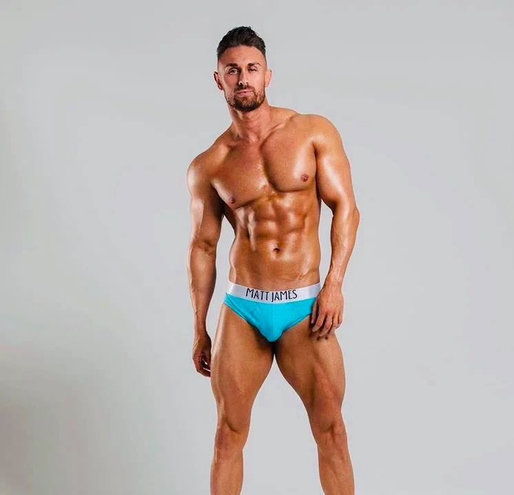 matt james underwear - blue briefs