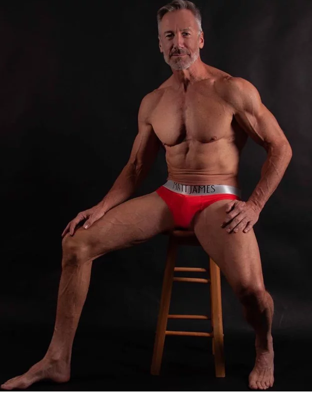 Clayton Paterson - Matt James underwear - red briefs