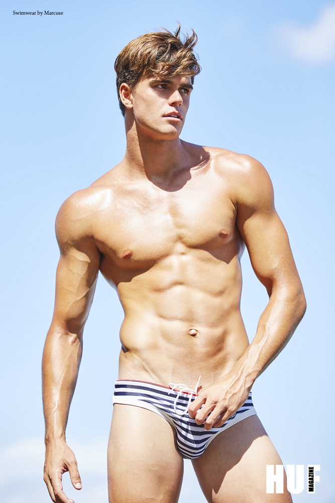 Bray McCarthy photographed by Trent Pace in swimwear by Marcuse