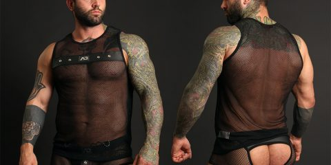 Simon Marini Addicted-fetish mesh underwear