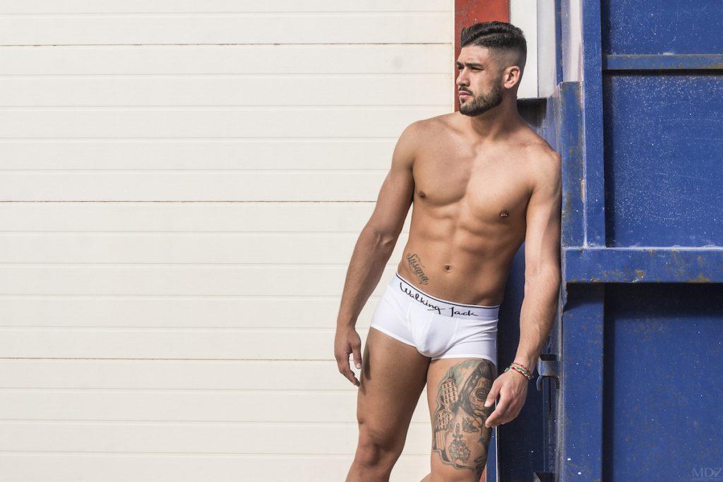 Chris photographed by MDZ management - Walking Jack underwear