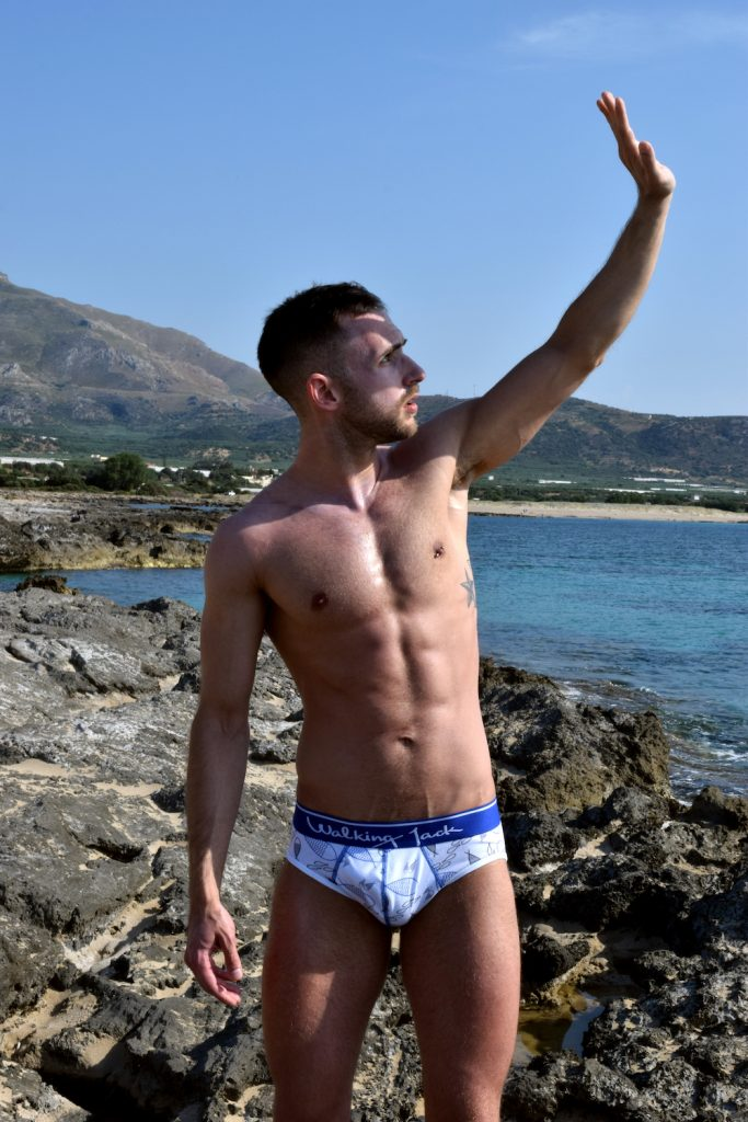Stathis Kapravelos - Walking Jack underwear Sea Print briefs