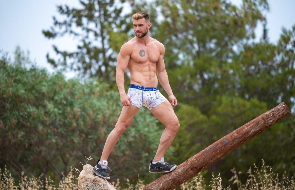 Kosmas Kaffes by Xanthos Georgiou wearing Walking Jack underwear