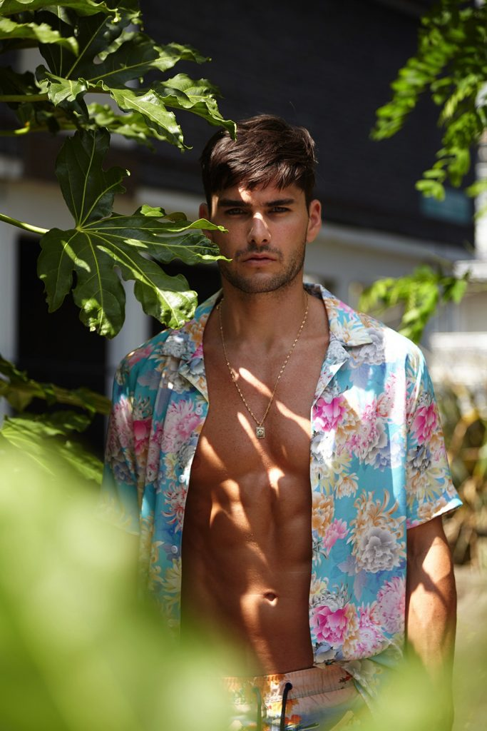 Model Charlie Matthews photographed by Karl Slater. Swimwear by ASOS DESIGN via Kaltblut Magazine.