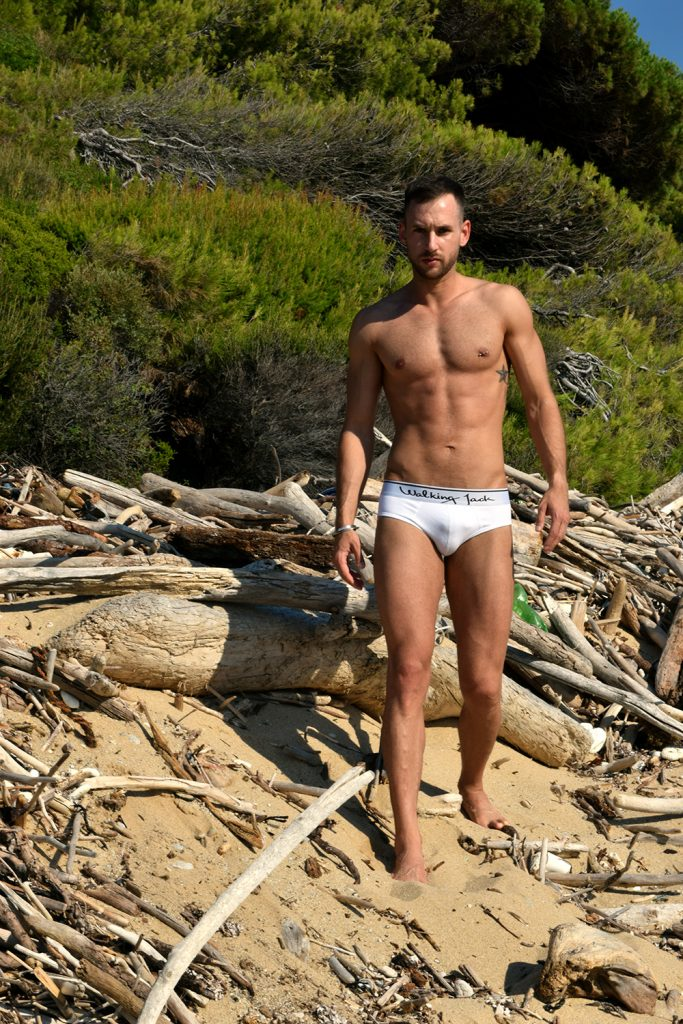 Stathis Kapravelos - Walking Jack Core white briefs