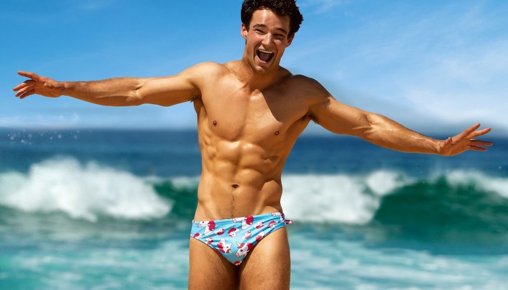 aussiebum swimwear - Party On briefs unicorn
