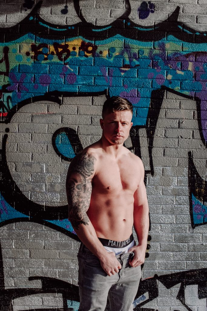 Matt James underwear - model Jonny by STUNN Photography