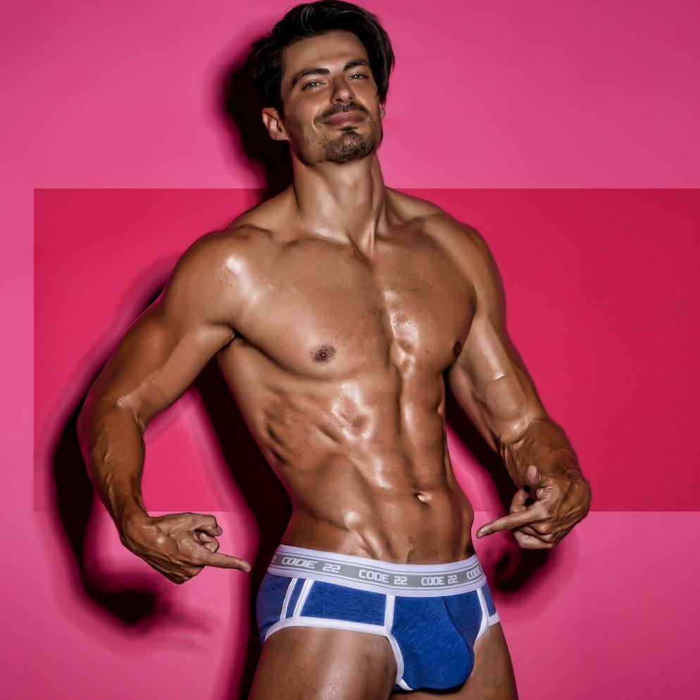 Best model campaign Code 22 underwear - Isaak Moreno