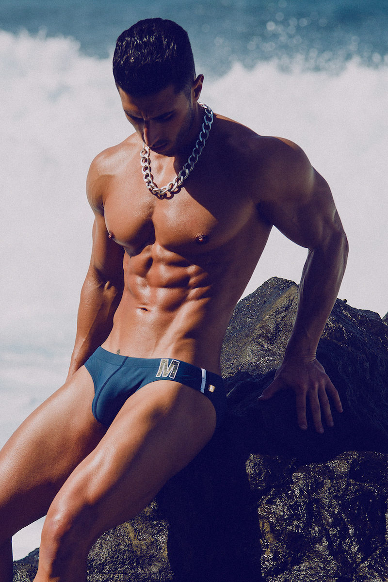 Marcuse swimwear - model Daniel photographed by Adrian C Martin