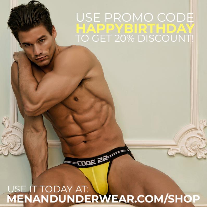 Men and Underwear - HAPPY BIRTHDAY coupon