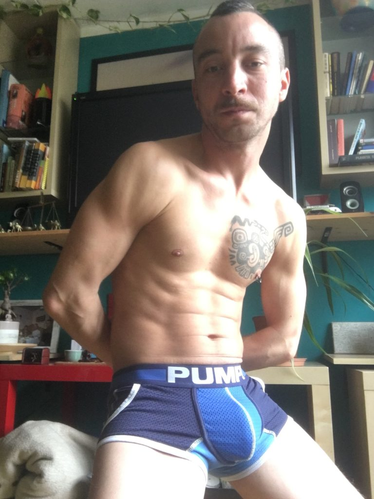 Men and underwear Stay at Home with Michal in PUMP underwear