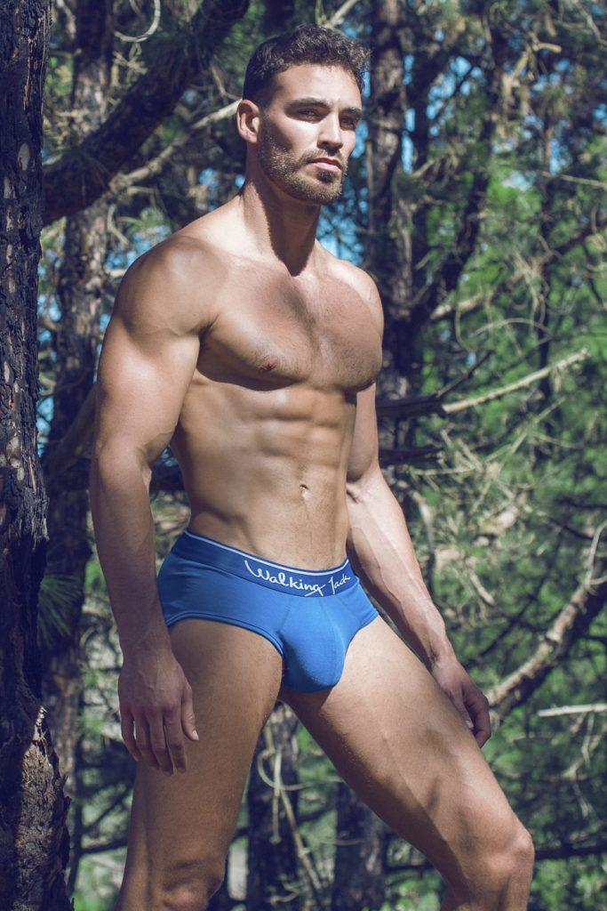 Walking Jack underwear - Bluebird Briefs - Ricardo by Adrian C. Martin