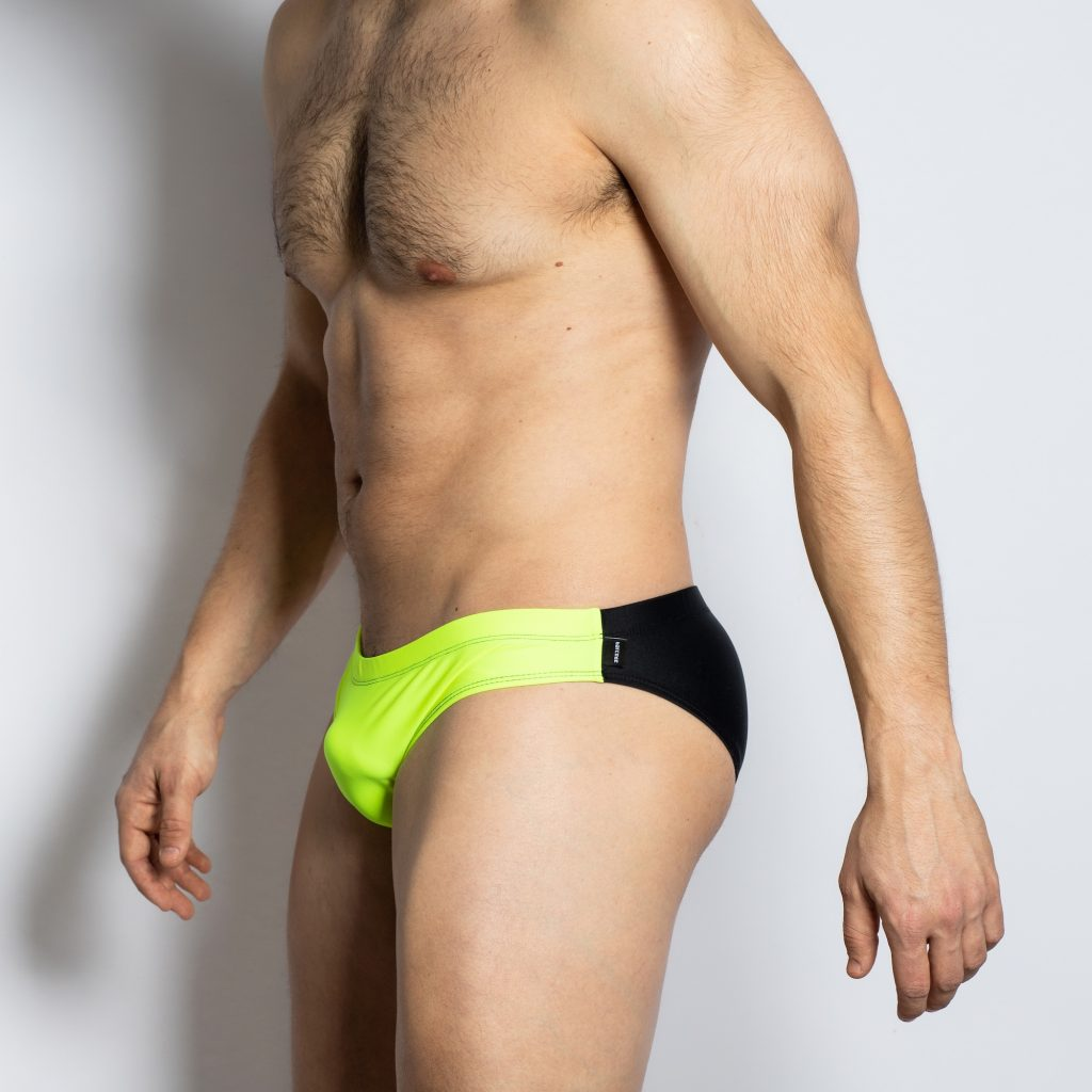 Barcode Berlin swimwear - Sacha SwimBriefs - Yellow with black