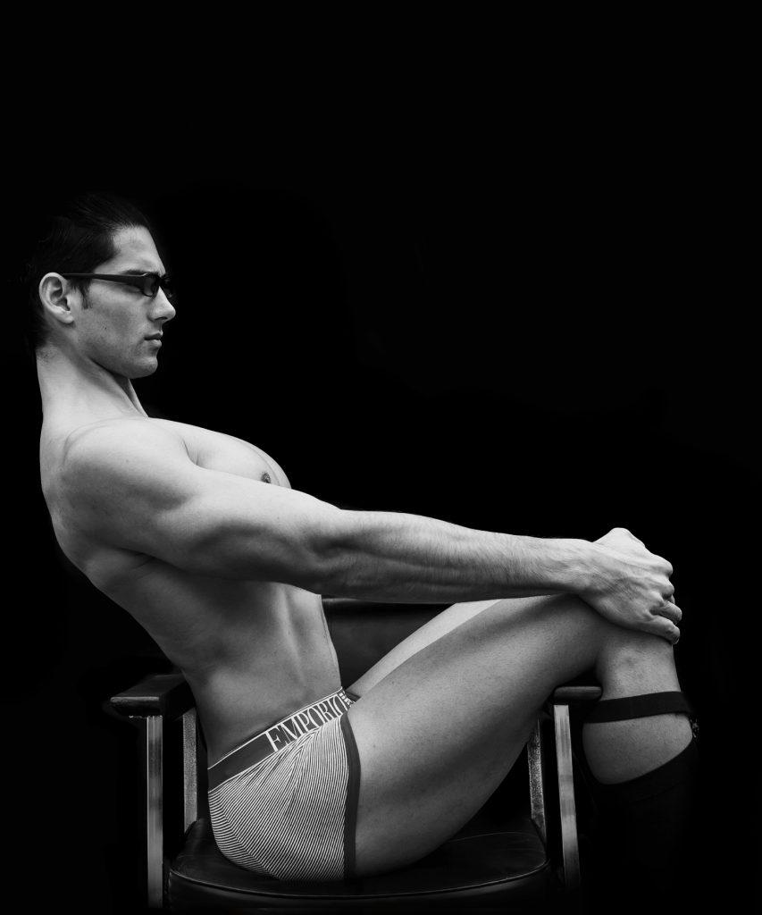 Emporio Armani underwear model Taner Sigirtmac by Baldovino Barani