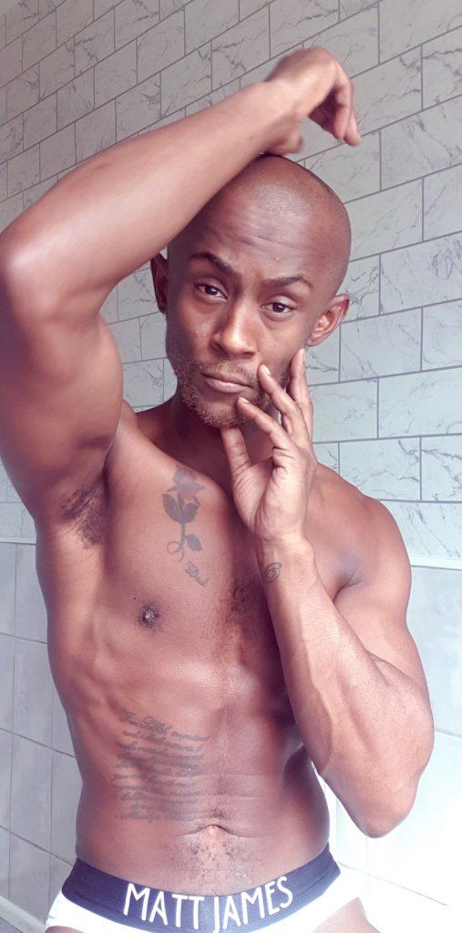 Matt James underwear - model Emmanuel