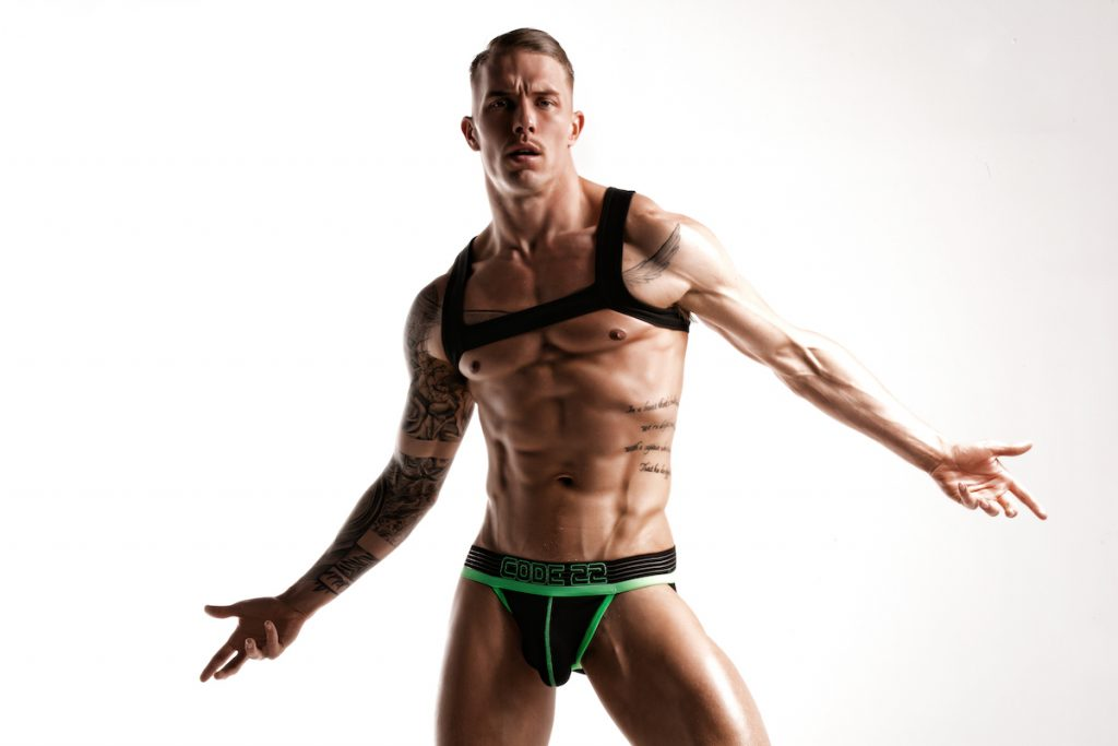 CODE 22 underwear - Neo Gym Jockstrap - Model Tomi Lappi by Joan Crisol