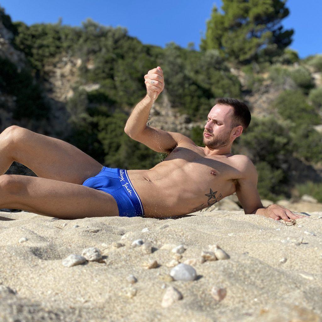 Walking Jack underwear - Bluebird Solid Briefs - Stathis - Summer Vibes
