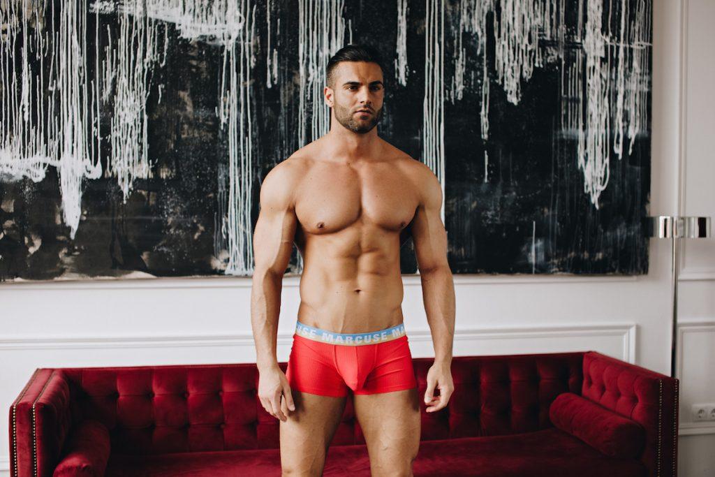 Marcuse underwear - Empire Trunks Red
