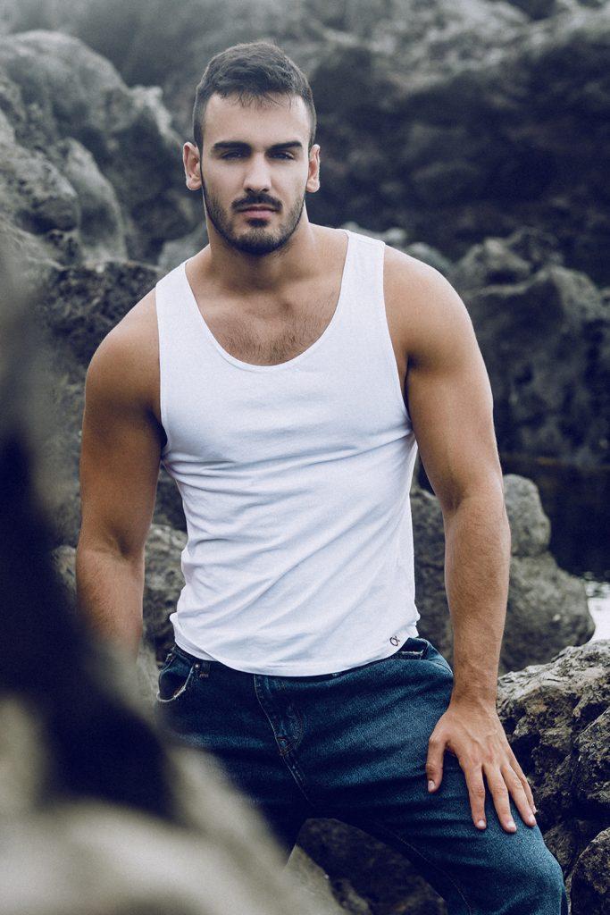Elia Beachwear tank top - model Ivan by Adrian C Martin