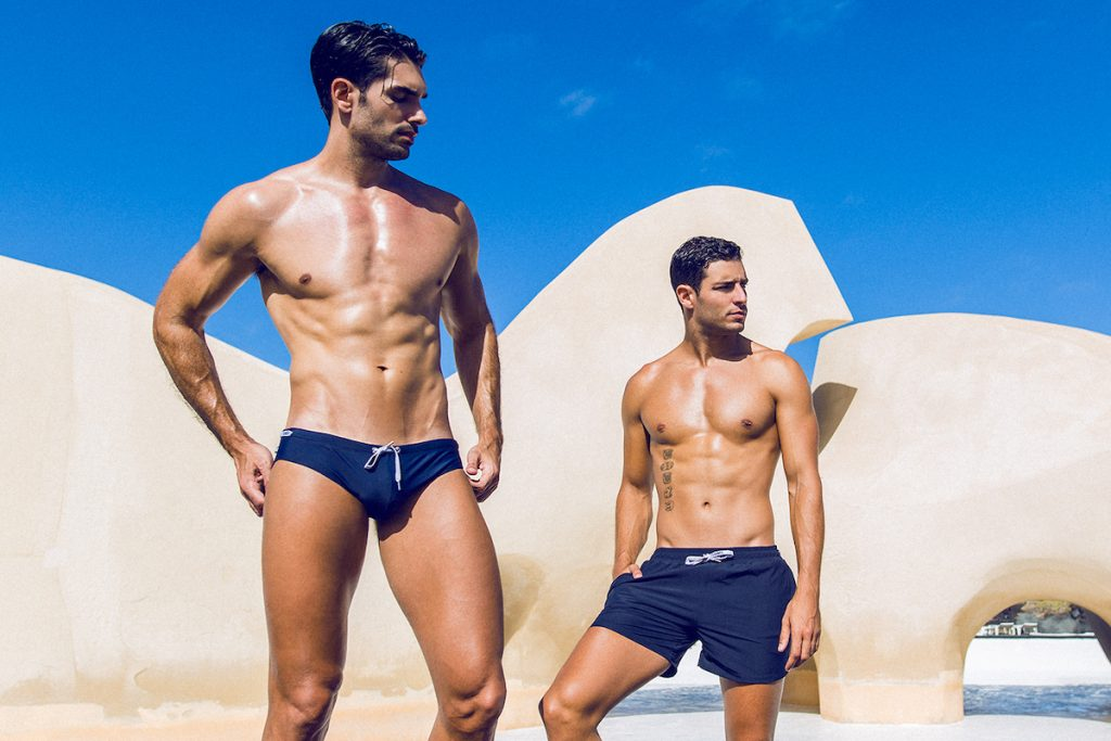 Teamm8 swimwear models Carlos and Alberto