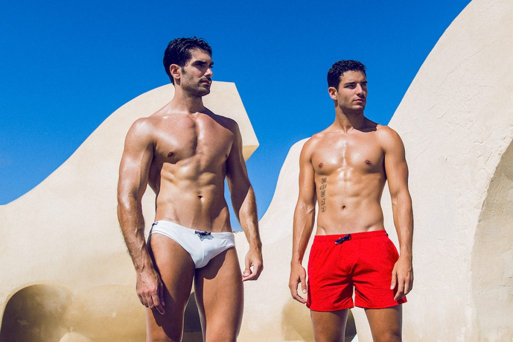 Teamm8 swimwear models Carlos and Alberto. by Adrian C Martin