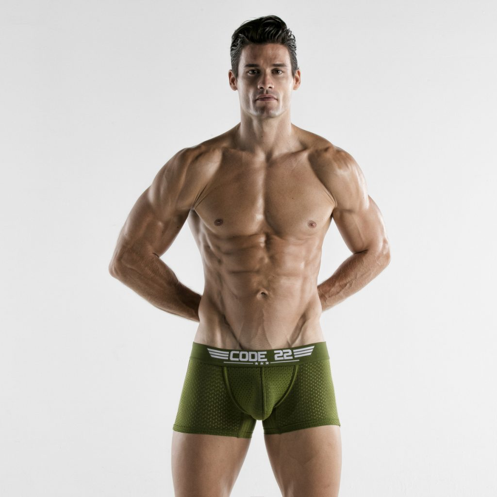 CODE 22 underwear - Army Boxers Khaki