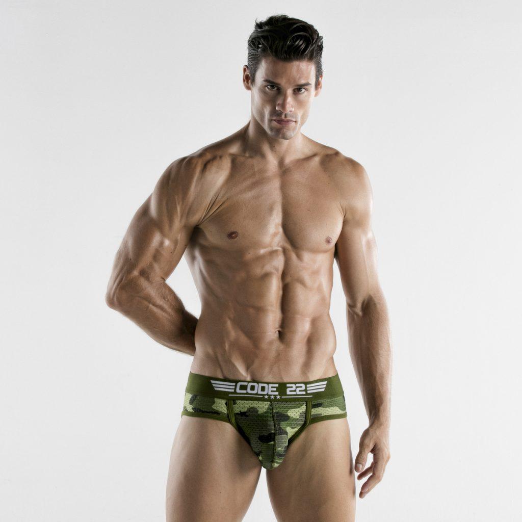 CODE 22 underwear - Army Breifs Camo