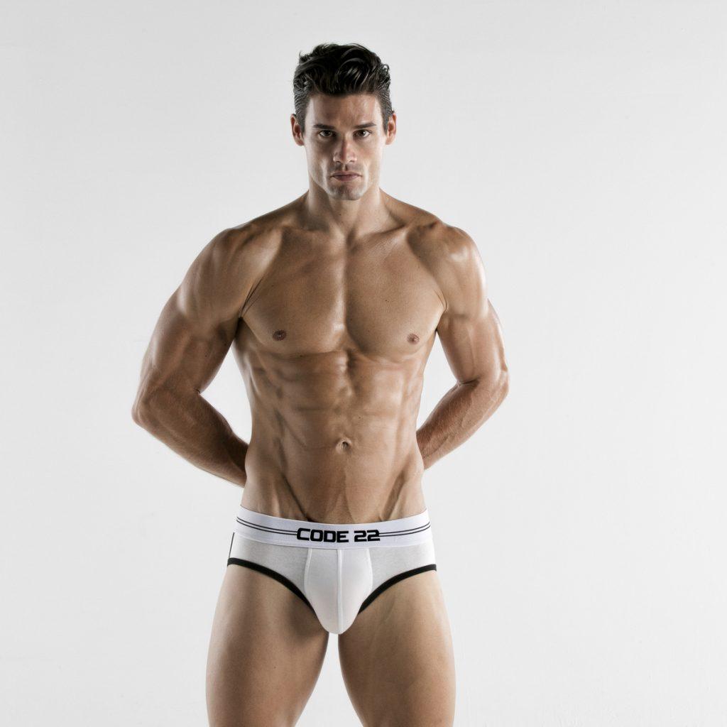 CODE 22 underwear - Power Briefs White