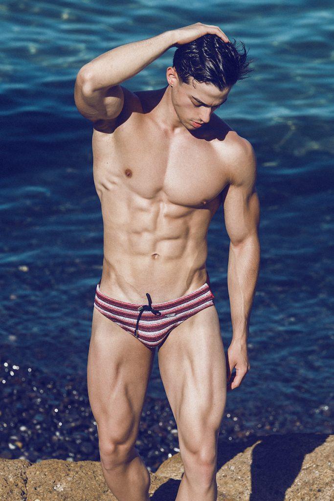 Swimwear editorial - model Manuel by Adrian C Martin