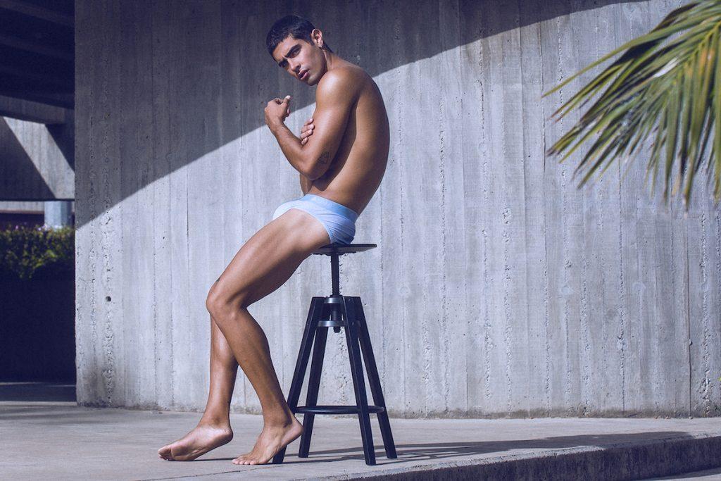 Teamm8 underwear - Super Low Stripe briefs campaign
