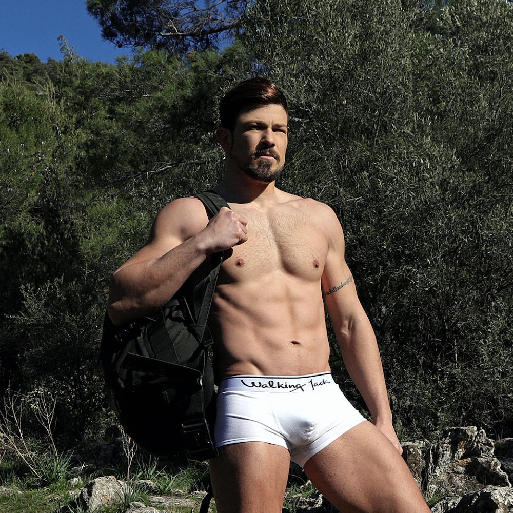 Greek model George Tsak in Walking Jack