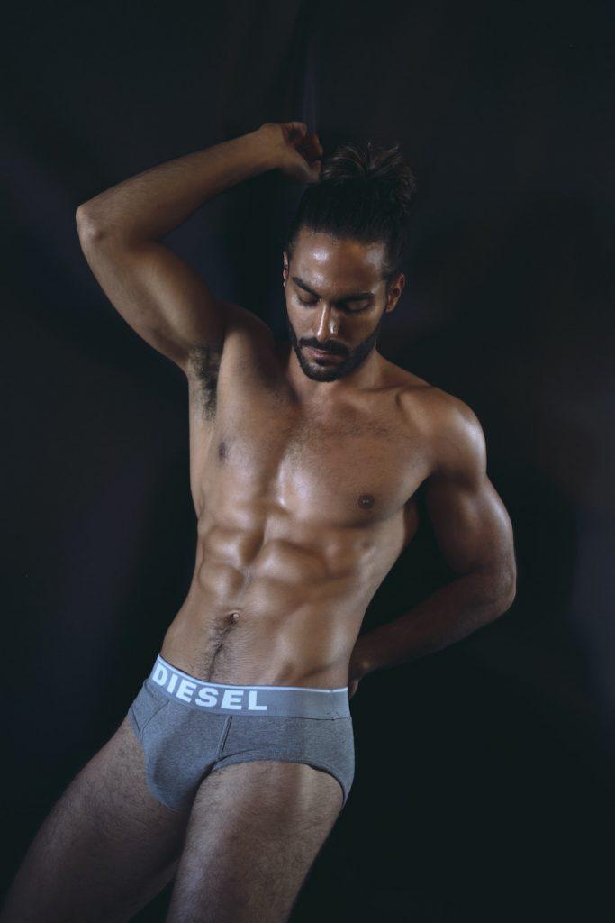 Diesel Underwear -Model Idan Guetta by Hair, Light and Shadow