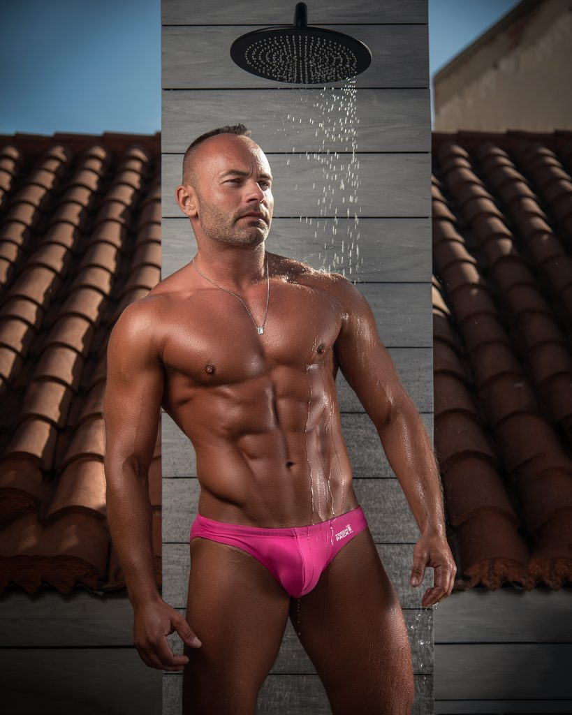 TorchPack swimwear - model Tom by Kuros