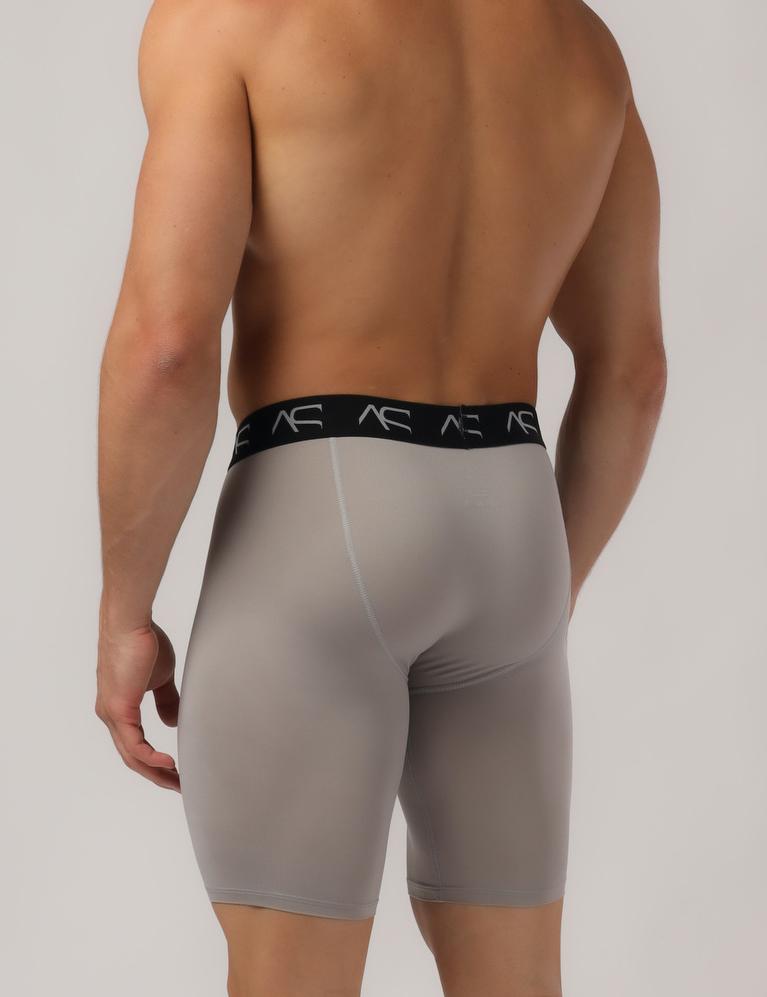 Adam Smith underwear - Mesh Long Trunks grey