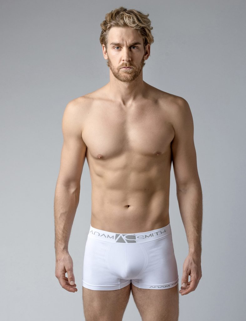 Adam Smith underwear - Seamless Softest Trunks White