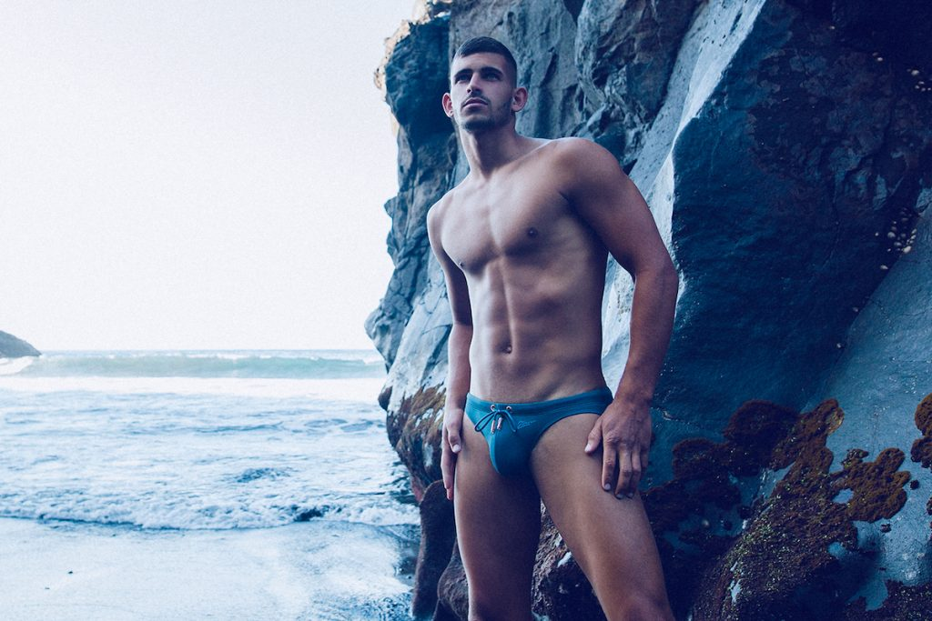Model Loren by Adrian C. Martin - Swimwear from various brands